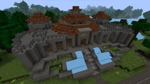 Jurassic Park Visitor Center in Minecraft -1st try