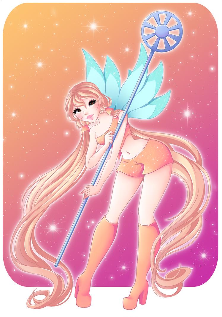 Stella, fairy of the shining sun! by Crescandra