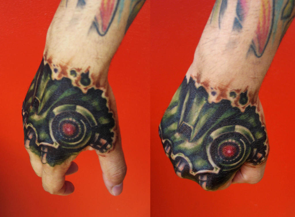 Real Tattoo: Robo Hand (not A Real Tattoo) By Adrianjf On DeviantArt