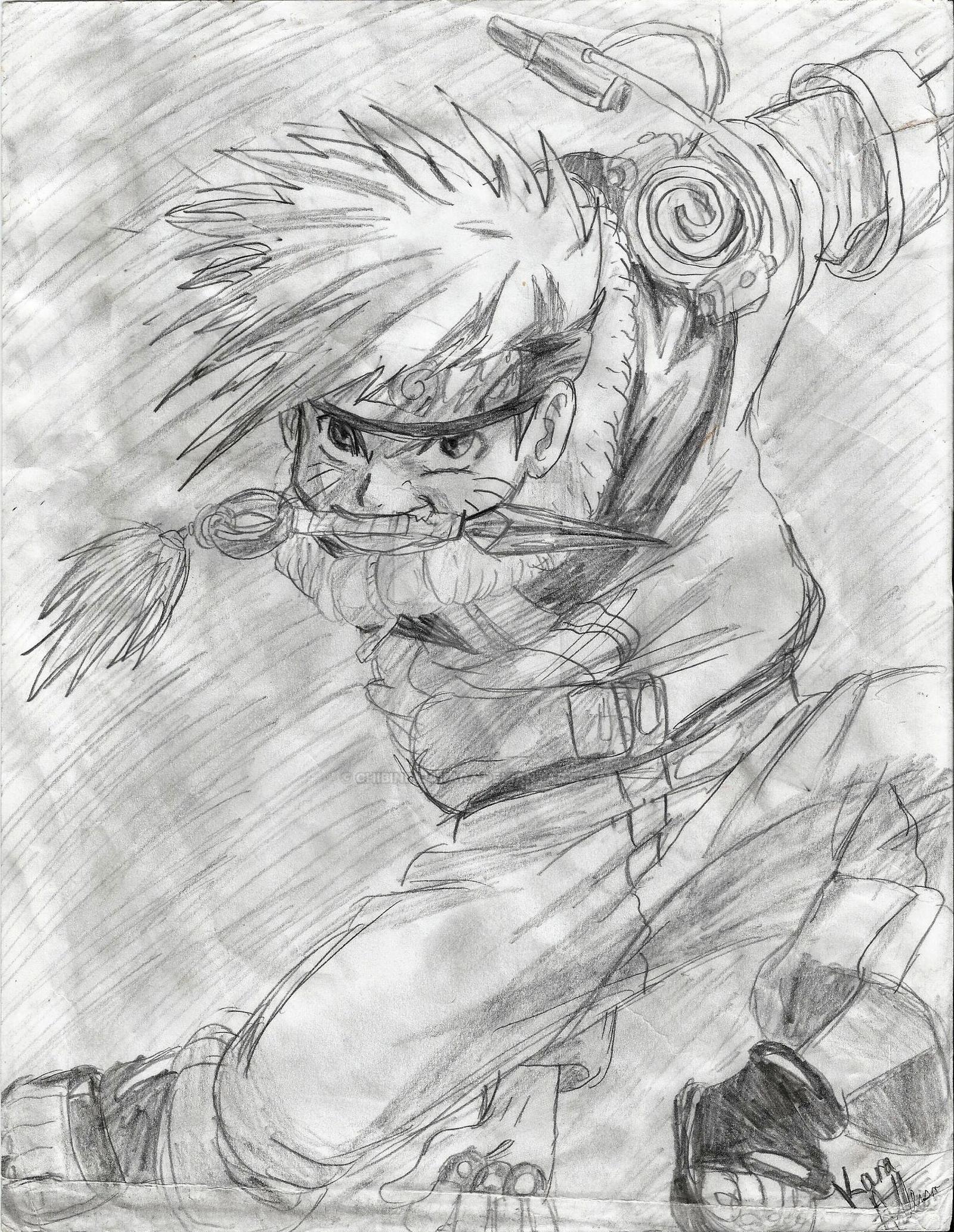 Naruto Pencil Drawing by ChibiNinjaKARA on DeviantArt  Naruto Drawings In Pencil Easy
