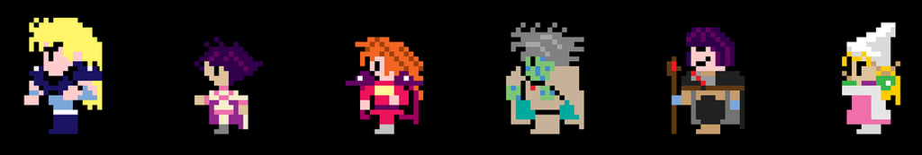Slayers Sprites (FF1 Style) by Kitsune-Knight