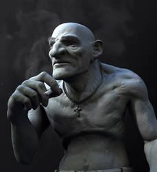 goblin-in-law (grey) by sanat49