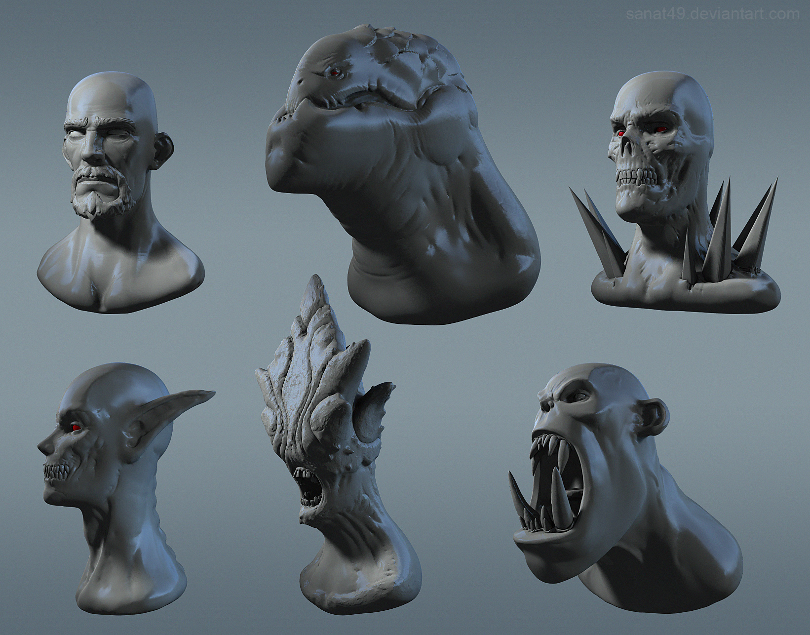 Heads_sculpting_01 by sanat49