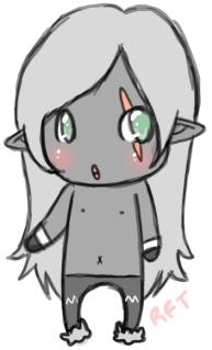 Chibi dark elf :D by neko-ale
