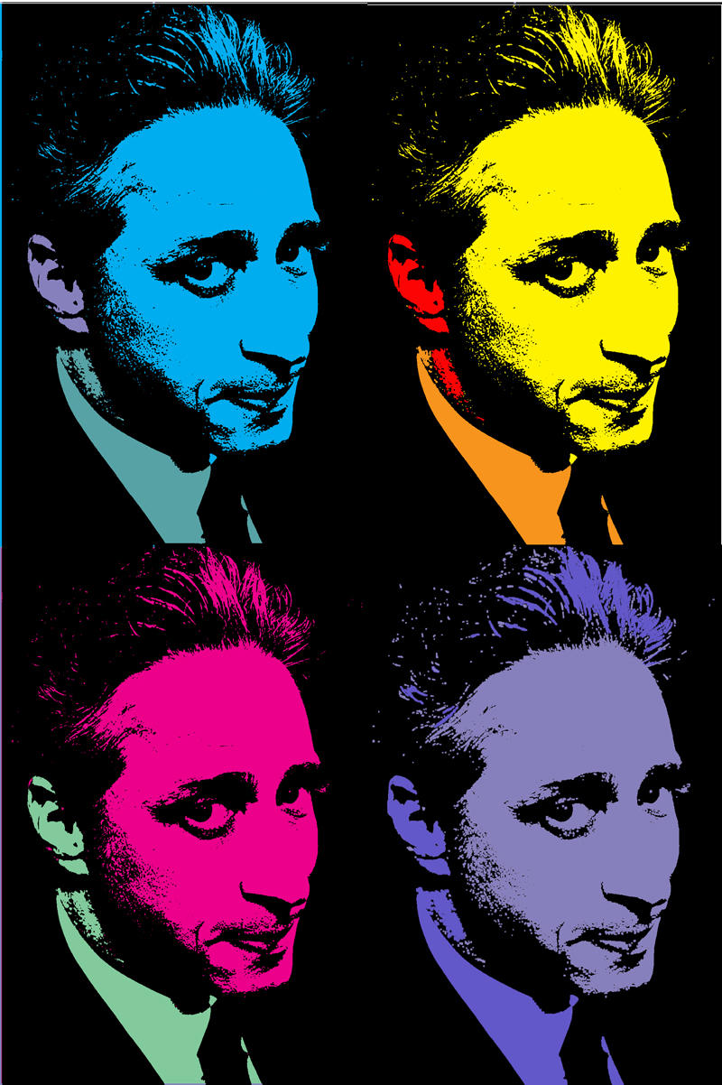 Jon Stewart- Andy Warhol Style by RabidZiggy