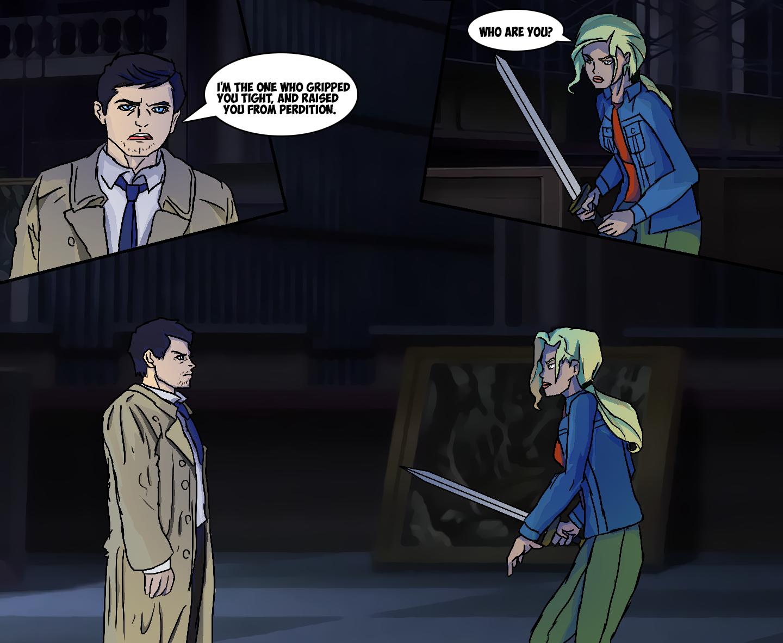Buffy Summers Meets Castiel by Deidrax