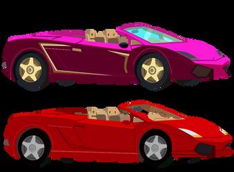 Red and Purple Lamborghini