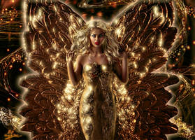 Golden winged angel