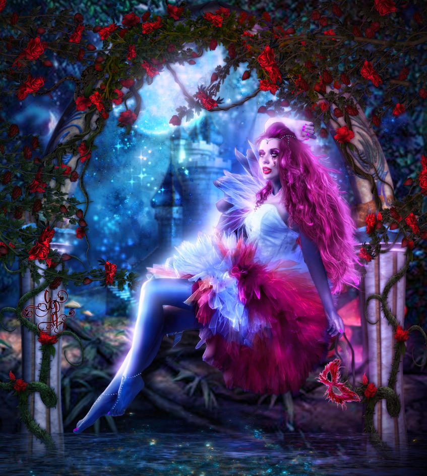 Secret Enchanted  Rose's Garden by Sinphie
