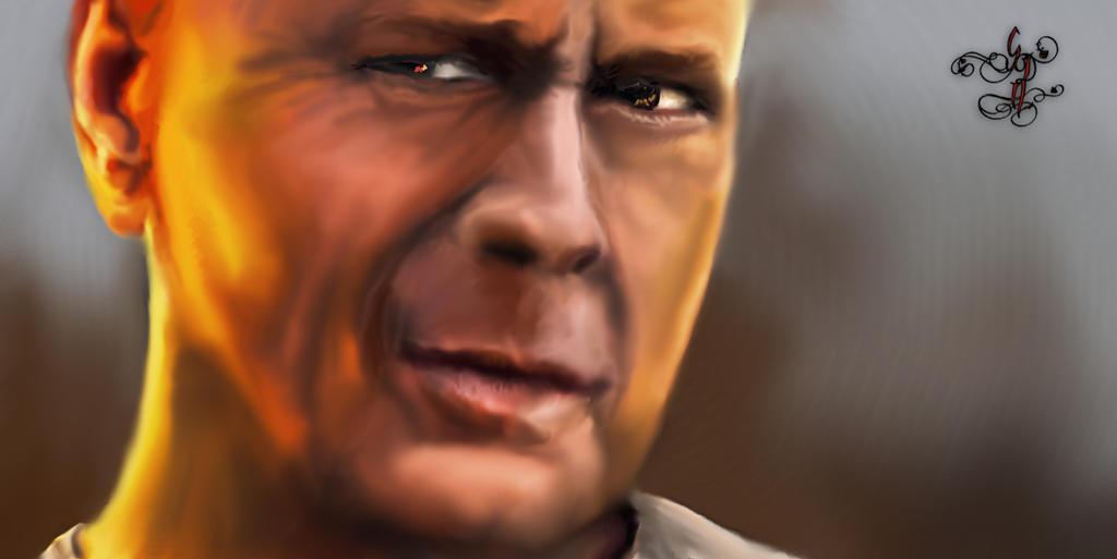 Bruce Willis - Die Hard by Sinphie