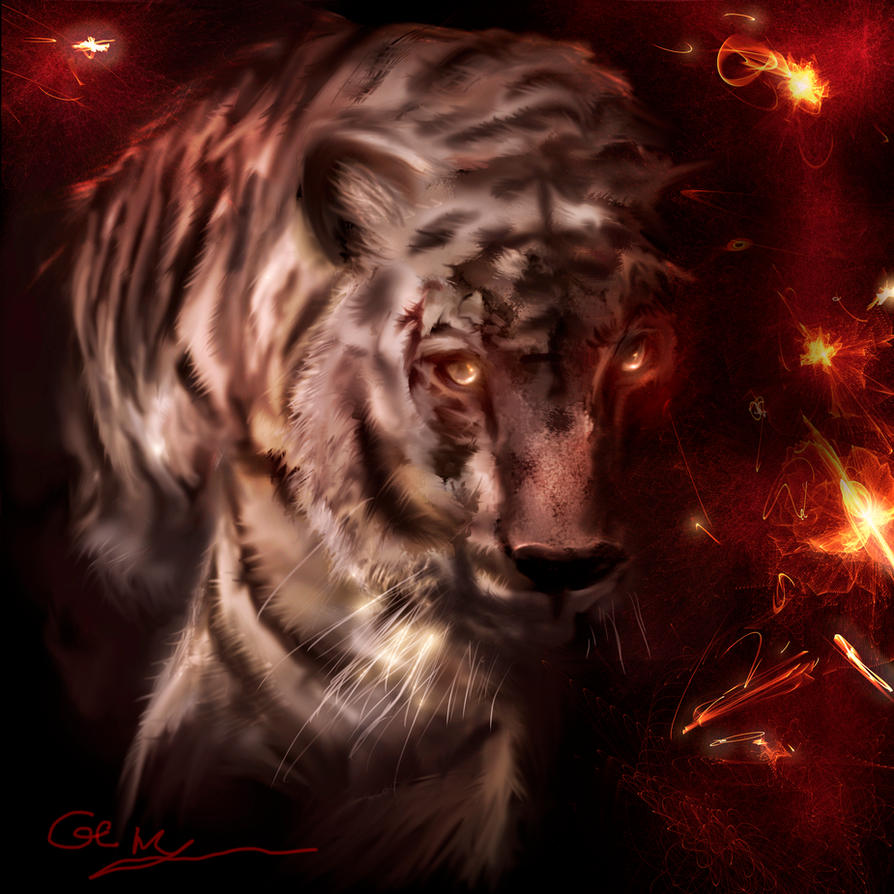Fire Tiger by Sinphie