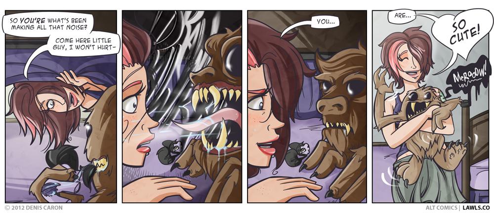 Adult art comic monster