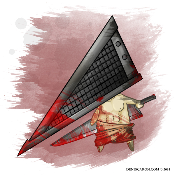 Chibi Pyramid Head - 0112 - Unconscious Ink [ui] by deniscaron