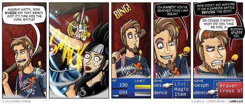 LAWLS Comic - 0198 - Limit Break by deniscaron