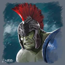 Hulk - Thor Ragnarok by clemper