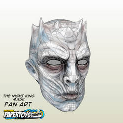 The Nights King Mask Fan Art - Papertoys Clemper by clemper