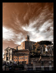 A monochrome sight of Rome by ZephonSoul