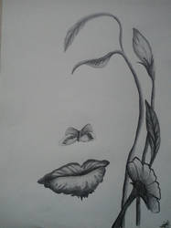 Woman or flower? by DanaMitzy
