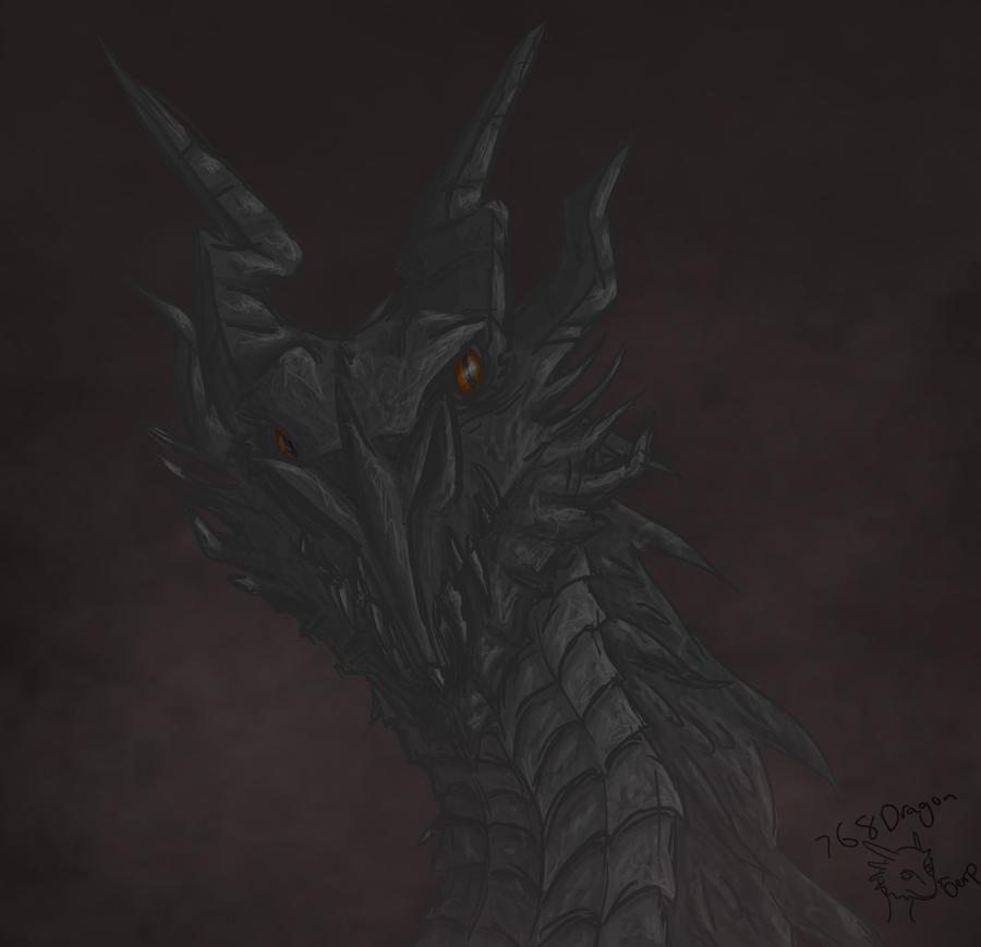 Skyrim-Alduin by 768dragon