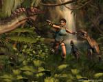 Lara Croft vs raptors