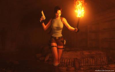 Lara Croft 96 by Nicobass