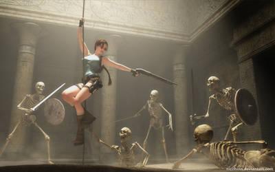 Lara Croft 97 by Nicobass
