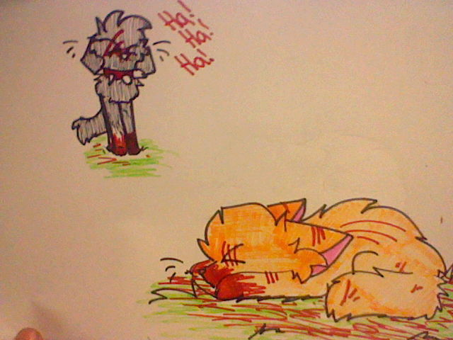Firestar loses his first life. by Gravitii-CS