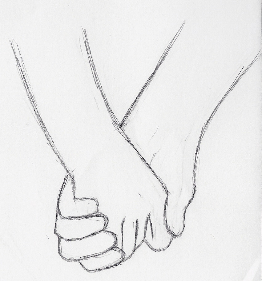 Drawing of Hands Holding Draw Anime Couples Holding