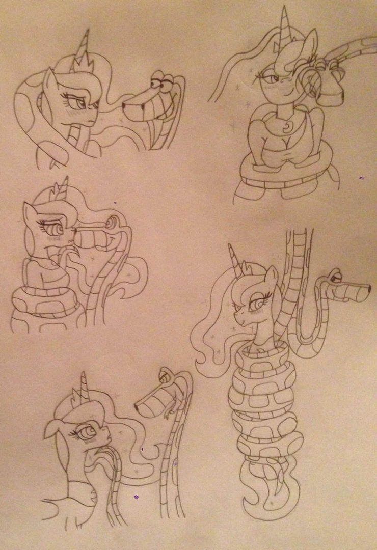 Kaa and Luna Page Sketches by LunaHazACookie