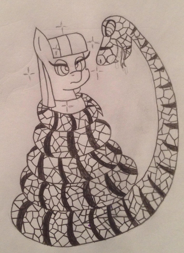 Maud and a Rock Python by LunaHazACookie