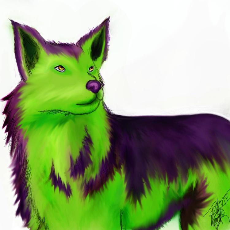Neon's wolf by xXTheLightXx