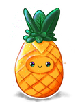 Cute Pineapple by Soph-art-lover