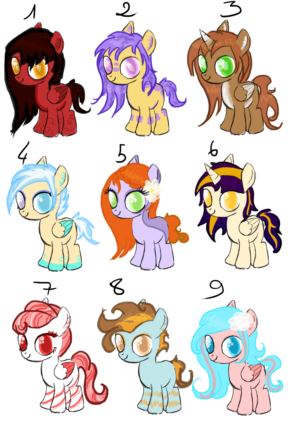 Adoptable Batch! SOLD !!! by Lost-in-Equestria