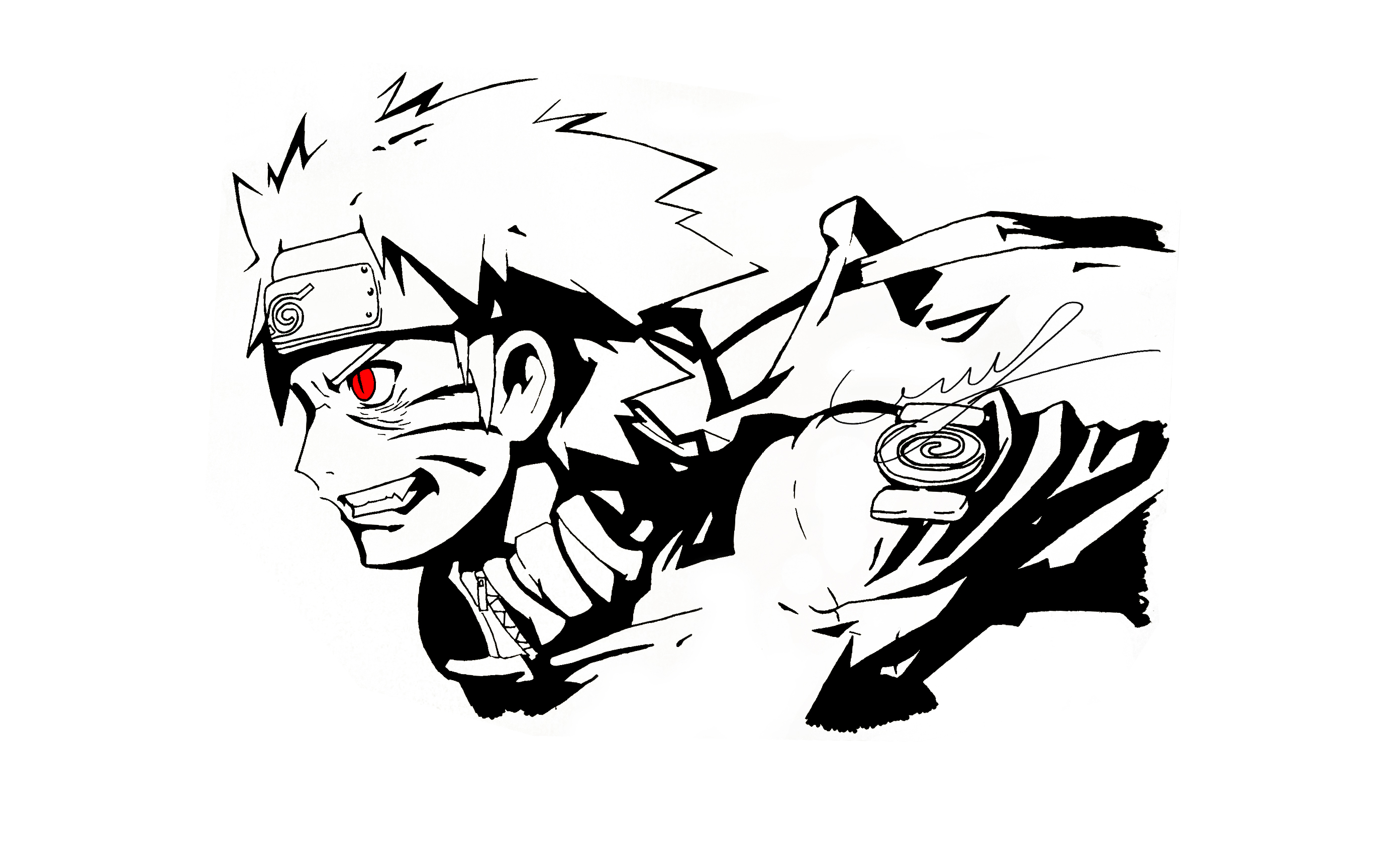 Black Marking Naruto By Camilozz On DeviantArt