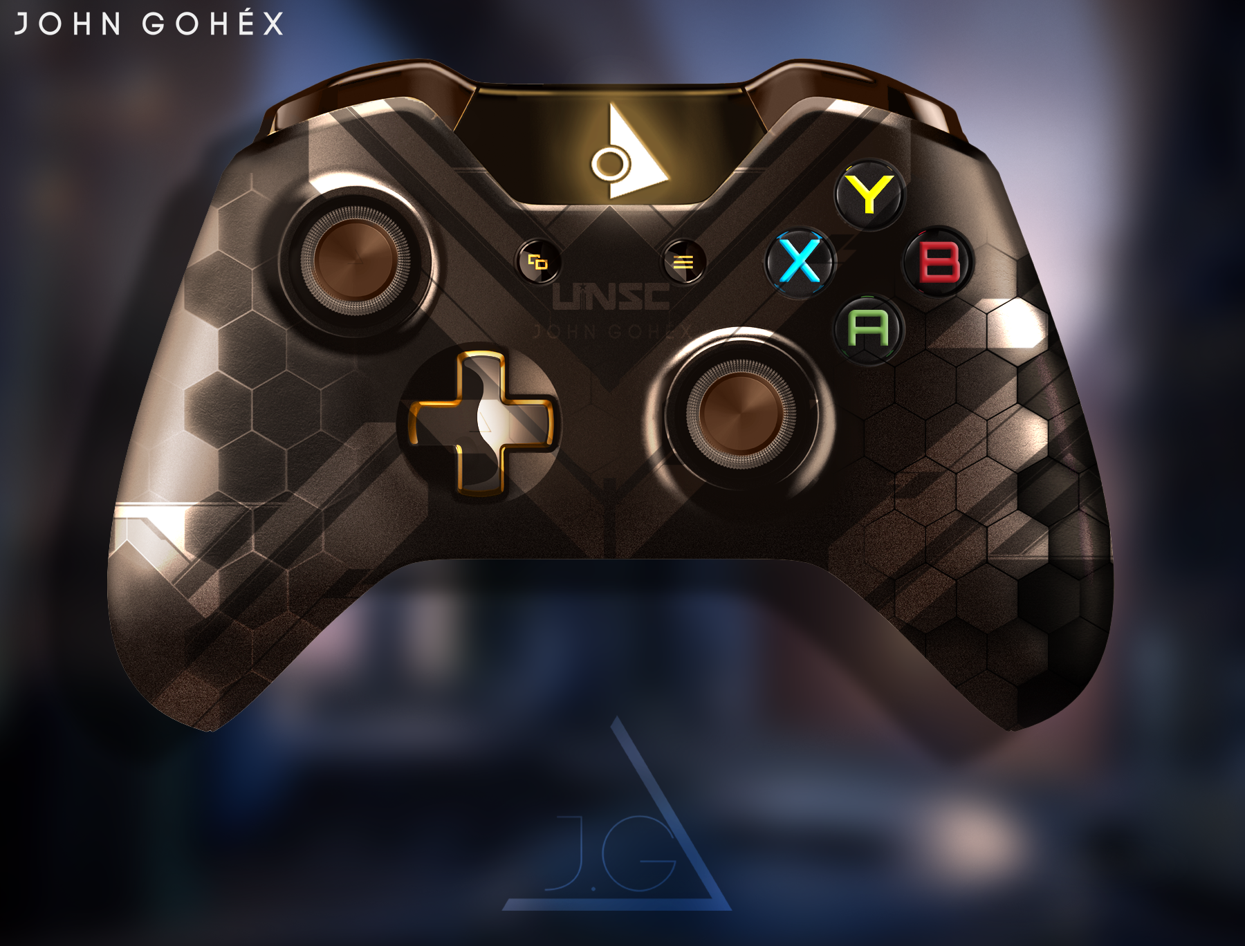 Xbox One Controller | Halo ONI Edition by JohnGohex on ...