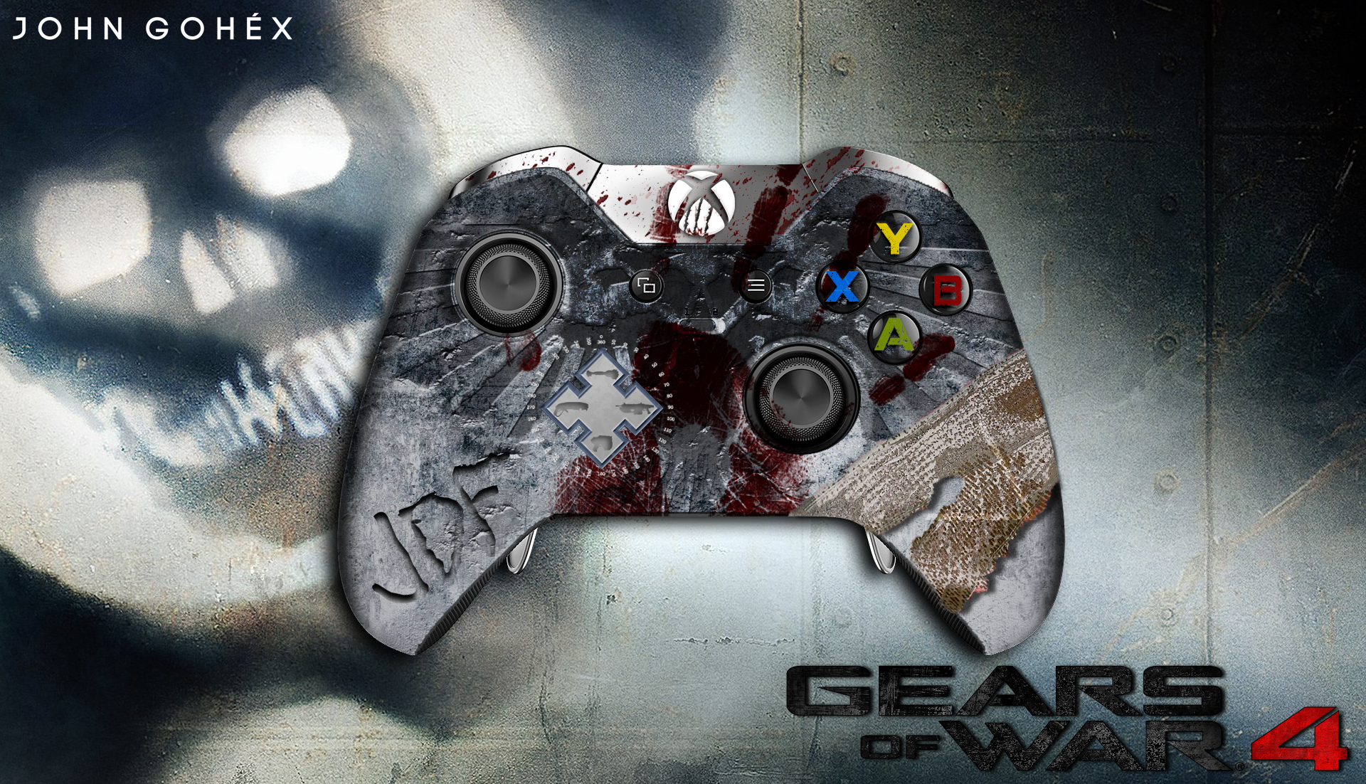 gears of war 4 jd fenix controller xbox one by johngohex. Black Bedroom Furniture Sets. Home Design Ideas