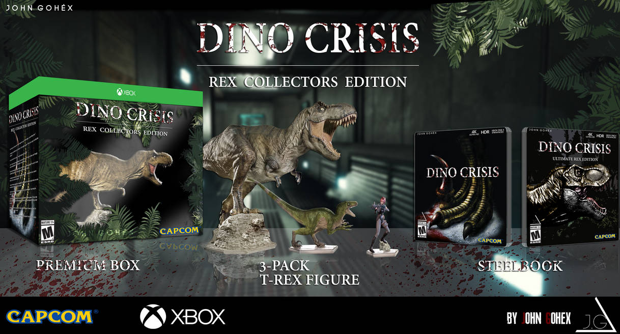DINO CRISIS REMAKE, LIMITED REX COLLECTORS EDITION by