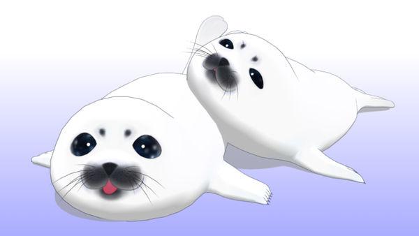 Mmd Baby Seals Dl By Scarlettackerman On Deviantart