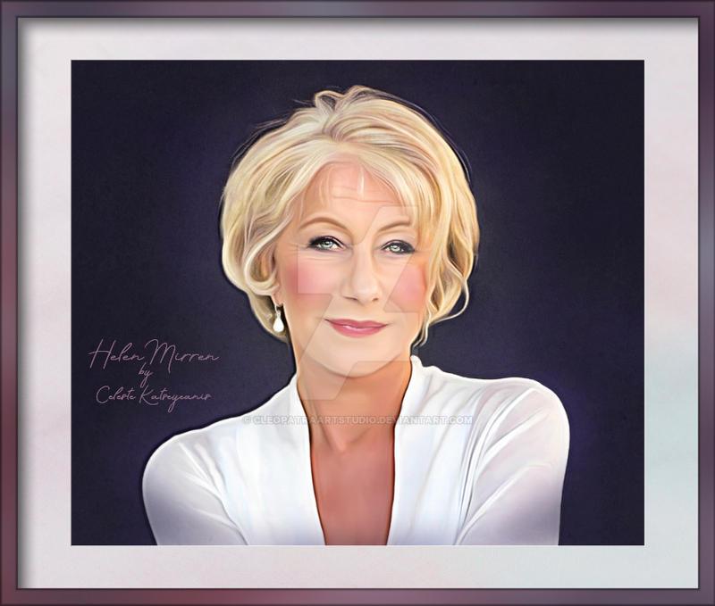 Dame Helen Mirren by Celeste Katseyeanis
