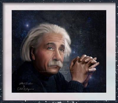 Albert Einstein by Celeste Katseyeanis