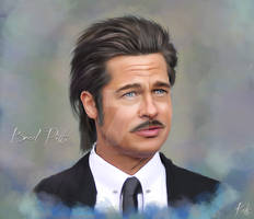 Brad Pitt 2 by Celeste