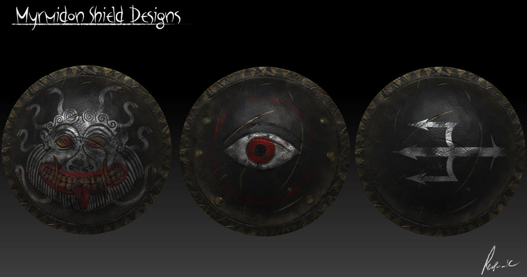 Myrmidon Shield designs by Reponic
