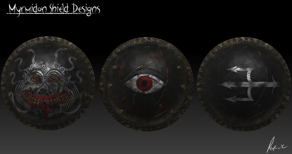 Myrmidon Shield designs by Reponic