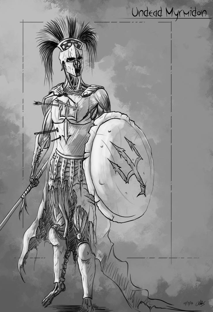 Undead Myrmidon by Reponic