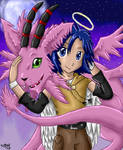 Angel Kouichi and Magnadramon