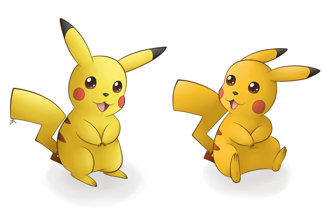 Normal and Shiny Pikachu by pdutogepi on DeviantArt