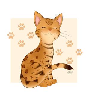 Bengal Kitty Smiles