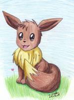 --Pokemon-- Happy Eevee by pdutogepi