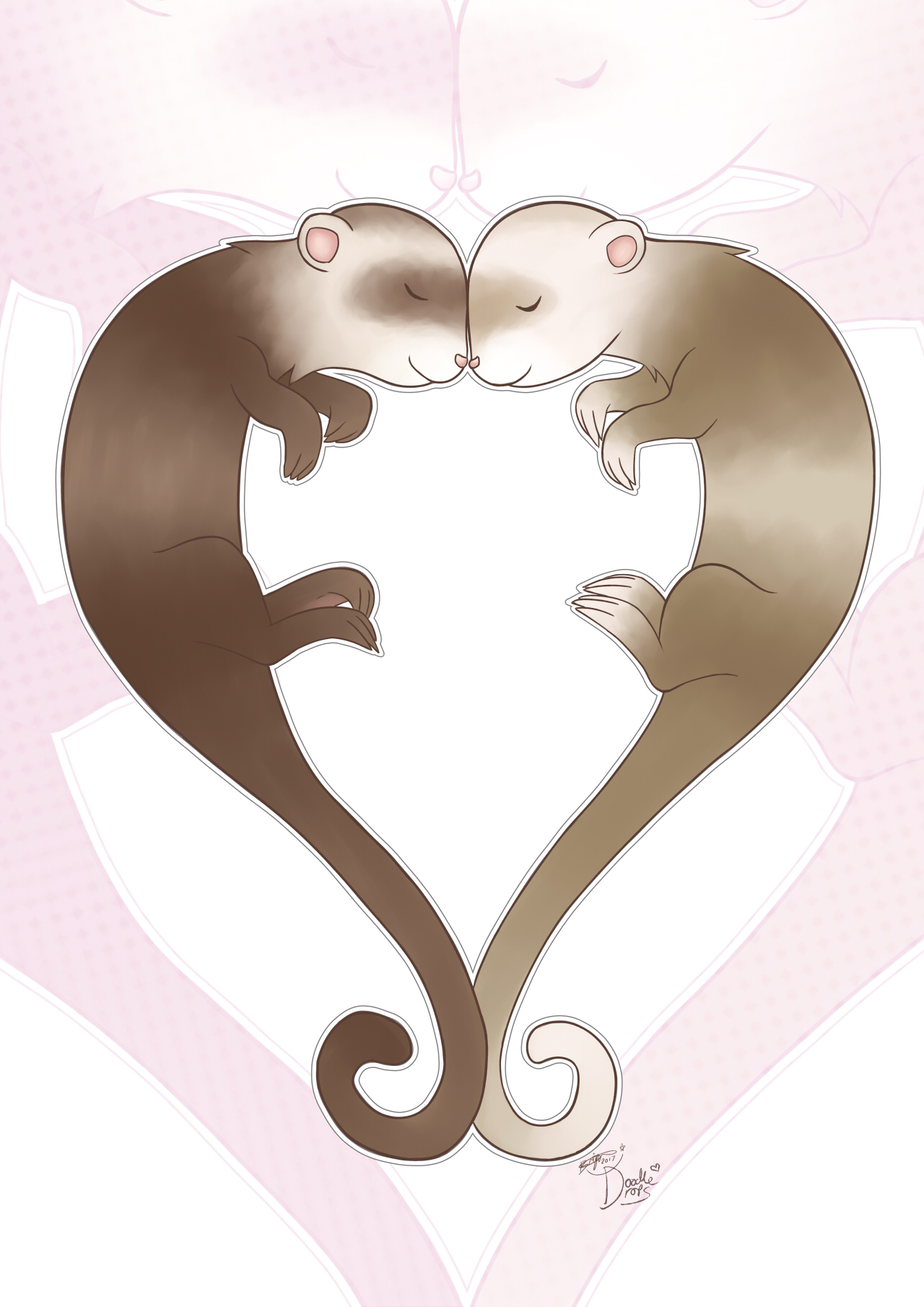 Heart Ferrets by pdutogepi
