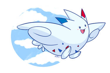 Togekiss in the Skies by pdutogepi